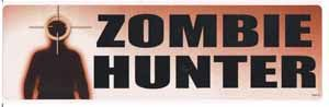 Zombie Hunter Bumper Sticker