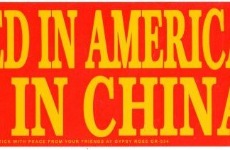 Invented In America Made in China Bumper Sticker