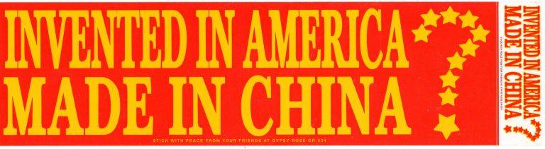 Invented In America Made in China Bumper Sticker