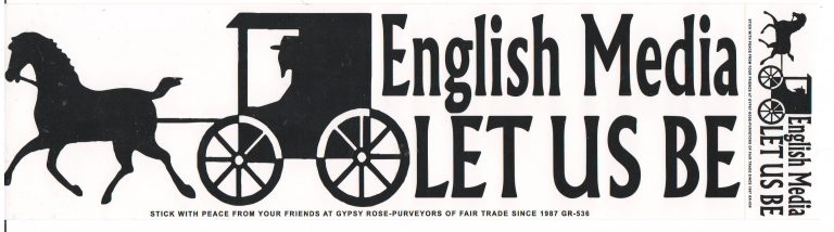 English Media Let Us Bumper Sticker